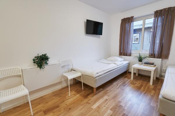 Bålsta Apartment Hotel beds